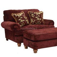 Belmont Chair and a Half (Claret). $690 Ottoman $280 Furniturecart.com