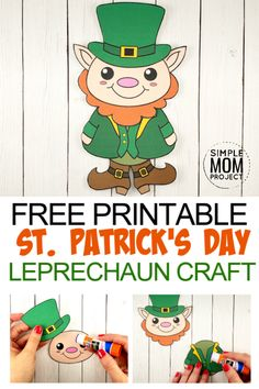 There is something bewitching about leprechauns! They pull out the Irish in all people which makes them an ideal mascot for St. Patrick's Day. This season, why don't you celebrate by constructing your personal leprechauns? St Patricks Day Crafts For Kids, St Patrick's Day Crafts, Diy Crafts For Kids, March Crafts, Holiday Crafts, Craft Ideas, Printable Crafts, Templates Printable Free, Free Printables