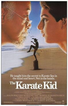 Love these karate kid movies. These karate kid versions are my most favorite ones I've ever seen. 80s Movie Posters, 80s Movies, Great Movies, Movies To Watch, Original Movie Posters, Movies Of The 80's, Classic Movie Posters, Childhood Movies, Awesome Movies