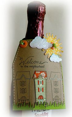 """""""Welcome to the Neighborhood"""" printable gift tag to be used for new neighbor gifts Dyi Gift Baskets, New Neighbor Gifts, Welcome New Neighbors, Welcome Baskets, Real Estate Gifts, Welcome Gifts, Gift Tags Printable, Tag Art, Hostess Gifts"""