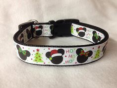 List your Nylon option at checkout - Black or Red For other Christmas patterns, http://etsy.me/1if1FLD  For other Grosgrain Ribbon options,