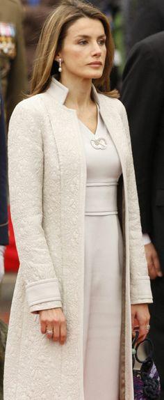 Crown Princess Letizia (born Letizia Ortiz Rocasolano) (1972-living2013) Spain wife of 2nd husband Crown Prince Felipe (Philip John Paul Alphonsus) (1968-living2013) Spain.