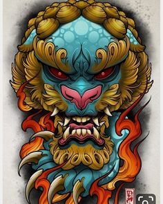 full sleeve tattoos with meaning Foo Dog Tattoo Design, Japan Tattoo Design, Japanese Tattoo Art, Japanese Tattoo Designs, Hannya Maske, Tattoo Japonais, Hanya Tattoo, Asian Tattoos, Filipino Tattoos