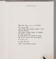 'My Fate' #atticuspoetry #atticus #fate #love #forever