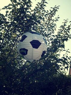 Soccer lantern ball party decoration