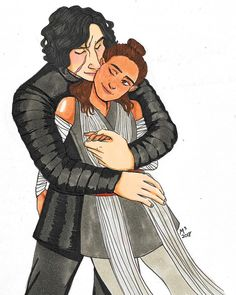 """✨ """"Run away with me?"""" """"In your dreams, Solo."""" ✨ ••• HAPPY VALENTINE'S DAY! LOVE Y'ALL❤️ ••• #reylo"""