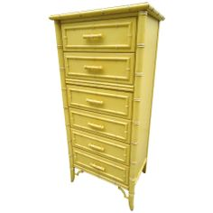 Hollywood Regency Chinoiserie Faux Bamboo Dresser