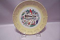 Illinois Souvenir Collector Plate