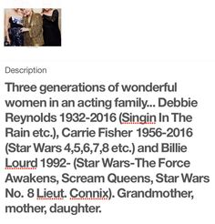 Three generations and a lasting cinematic legacy.