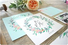 faire-part-mariage-eucalyptus-couronne-feuillages-fleurs-peinture-aquarelle-happy-chantilly