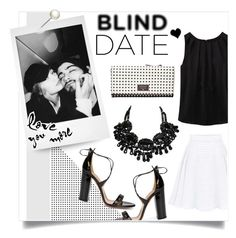 """""""What to Wear: Blind Date"""" by mfardilha ❤ liked on Polyvore featuring WithChic, FOSSIL and Aquazzura"""