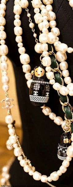 Chanel ~ Russian doll Matryoshka pendant