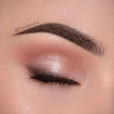 Wedding Nude peach pink charcoal eye makeup