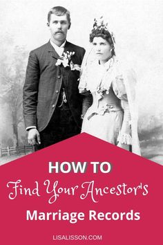 Struggling to find your ancestor's marriage date? Learn how to confidently research your ancestor's marriage records. Struggling to find your ancestor's marriage date? Learn how to confidently research your ancestor's marriage records. Free Genealogy Records, Free Genealogy Sites, Family Genealogy, Genealogy Search, Dna Genealogy, Find Your Ancestors, Family Tree Research, Genealogy Organization, Family History Book