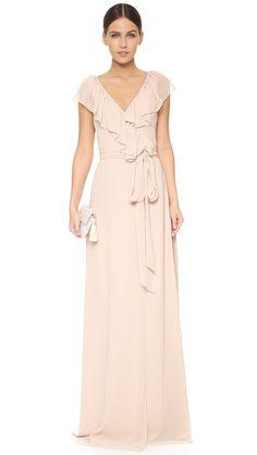 bf6fdfacf0c6 Pretty ruffle bridesmaid dress!   Joanna August Lolo V Neck Ruffle Wrap  Dress   Joanna
