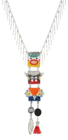 Collier TARATATA. Bijoux créateurs. En vente en boutique et sur notre site internet : http://www.bijouterie-influences.com/search.php?search_query=taratata+totem