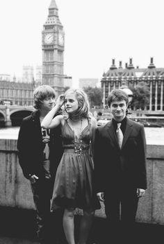Rupert Grint, Emma Watson, Daniel Radcliffe of Harry Potter Movie fame.