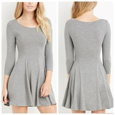 Grey Skater Dress Grey skater dress/first pics come straight from forever 21 website of exact same dress (now sold out). Forever 21 Dresses