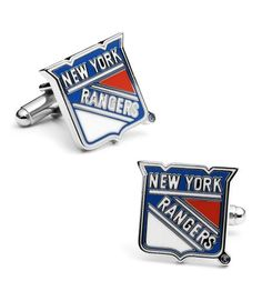 Cufflinks Inc - Pro Sport Collection Sterling Official NY Rangers Cufflinks