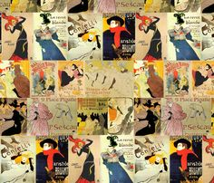 Toulouse Lautrec Posters Petit fabric by hollycejeffriess on Spoonflower - custom fabric