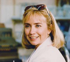 Hillary Clinton campaigning with Bill in Corsicana, Texas on August 28, 1992. (David Woo/The Dallas Morning News)