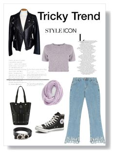 """""""Cropped Flare"""" by tracyroy ❤ liked on Polyvore featuring Chicnova Fashion, Salvatore Ferragamo, Monrow, Alexander McQueen, Alexander Wang, BCBGeneration and Converse"""
