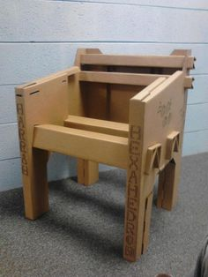 Cardboard Chair by CCAD student Symon Harrah