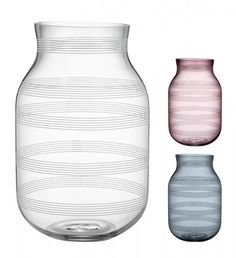 Kähler Design Omaggio Vase Glas Höhe 28 cm