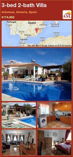 3-bed 2-bath Villa in Arboleas, Almeria, Spain ►€174,950 #PropertyForSaleInSpain