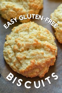Gluten-free biscuits that are light and fluffy! Super easy to make and a family favorite. THM-S, Keto Gluten-Free Biscuits - Light and fluffy gluten-free and dairy-free biscuits. Low-Carb, THM-S Biscuit Sans Gluten, Low Carb Biscuit, Cookies Gluten Free, Gluten Free Desserts, Gluten Free Breads, Gluten Free Whole Grain Bread Recipe, Gluten Free Roux Recipe, Gluten Free Soups, Gluten Free Mac And Cheese