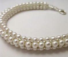 Bead Designs by Yvonne King: Herringbone Pearl Rope Bead Pattern