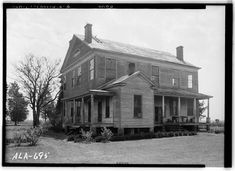2.  Historic American Buildings Survey W. N. Manning, Photographer, March 27, 1935 REAR AND SIDE VIEW N.E. - Montgomery-Jones-Whitaker House, County Road 4 (Reynolds Mill Road), Prattville, Autauga County, AL