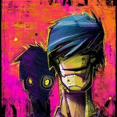 Zombie guys by Artem Solop on ArtStation. Creepy Drawings, Graffiti Characters, Cyberpunk Character, Drawing Sketches, Drawing Style, New Art, Character Art, Cool Art, Digital Art