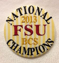 FSU 2013 National Champs! From Tailgate Creations.