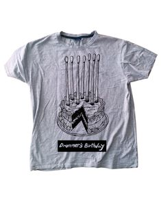 T-Shirt for drummers - Drummer's birthday cake by NoiseTreeProject on Etsy