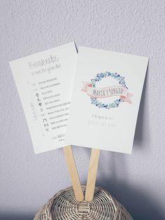 Pai pai de bienvenida para bodas con timing y nombre de los novios. Modelo papelería de boda corona de flores.