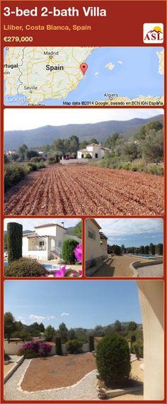 3-bed 2-bath Villa in Lliber, Costa Blanca, Spain ►€279,000 #PropertyForSaleInSpain