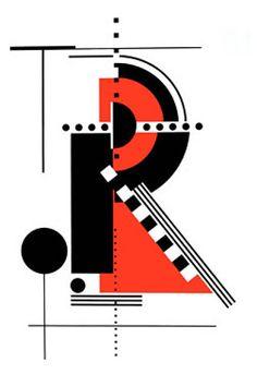 "blushingcheekymonkey: "" rosmarie tissi - the letter r "" Typography Letters, Typography Design, Lettering, Typography Inspiration, Graphic Design Inspiration, Graphic Design Illustration, Graphic Art, Alphabet, Bauhaus Design"