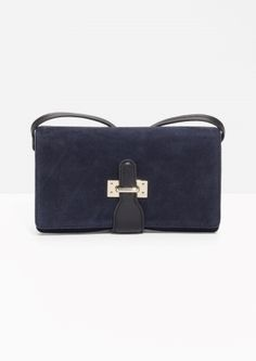 & Other Stories | Suede Crossover Flap Bag