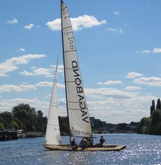 """The Thames Rater """"Vagabond"""", one of the most famous of the fleet and still able to beat just about any dinghy afloat in the right conditions as she approaches her 110th birthday. Pic from the Thames Sailing Club site."""