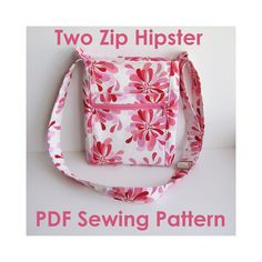 Free Printable Purse Patterns | Two Zip Hipster PDF Sewing Pattern by ErinErickson on Etsy