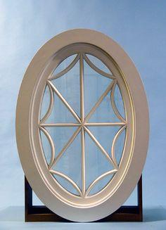 Custom Wood Fixed Oval Windows, RoundWindows, Ellipse Windows Windows And Window Treatments, Custom Wood, Small Bathroom Window, Mirror Design Wall, Windows Exterior, Windows, Oval Window, Attic Window, Leaded Glass