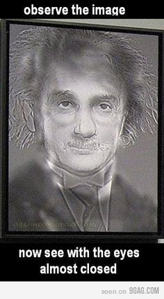 Funny pictures about Albert Einstein or Harry Potter? Oh, and cool pics about Albert Einstein or Harry Potter? Also, Albert Einstein or Harry Potter? Eye Illusions, Cool Optical Illusions, Funny Illusions, Eye Tricks, Mind Tricks, Memes Do Harry Potter, Illusion Art, Mischief Managed, Albert Einstein