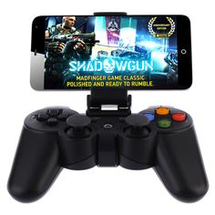 Wireless Bluetooth Game Controller for Phone Joypad with Clip Joystick Devices Gamepad Console for Samsung iPhone Tablet Pad Smart TV/BOX Android iOS Black