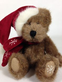 "Boyds Bears A.J. Blixen Plush Jointed 8"" Christmas Bear Stuffed Animal #BoydsBears"