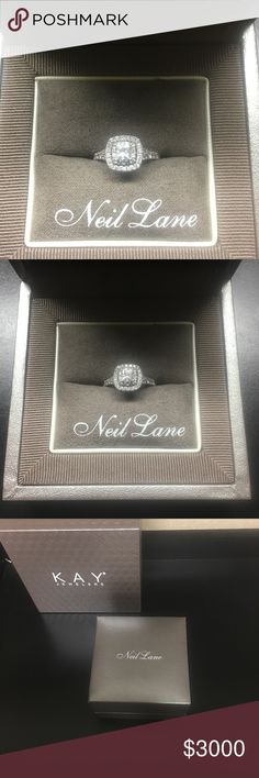 Neil Lane Engagement Ring size 6.5 1-1/8 ct tw Neil Lane  Engagement Ring 1- 1/8 ct tw Diamonds 14k White Gold priced originally at $3849.00 selling for $3000.00 stock#940285416 Kay Jewelers Jewelry Rings