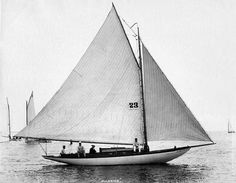 "Yacht ""Madrine"" c. 1880's, New York by W.S. Johnston"