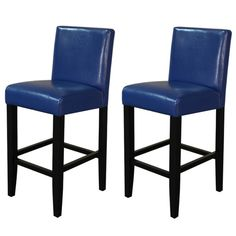 Awesome Blue Leather Counter Stools