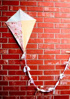 Cute shabby chic custom order. Order yours today at: https://www.etsy.com/listing/126322267/custom-fabric-kites-photo-prop-childrens