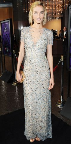 Look of the Day - January 28, 2015 - Isabel Lucas in Jenny Packham from #InStyle